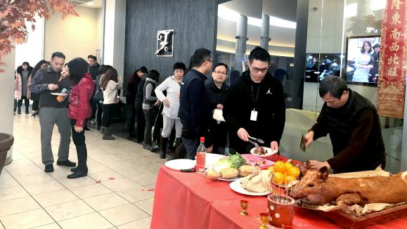 Fairchild Television Held a New Year Ceremony