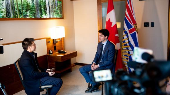 Fairchild Television Interview with Prime Minister Justin Trudeau