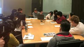 The 8 Finalists met with music consultant, Richard Yuen