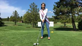 華姐林昀佳擔任中僑慈善高爾夫球賽主禮嘉賓