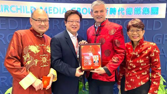 卑詩自由黨黨領韋勤信向新時代電視員工拜年