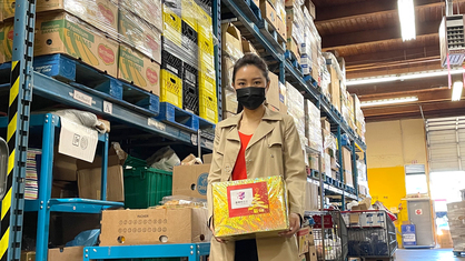 MCVP Champion Amy Tso Visits Food Bank