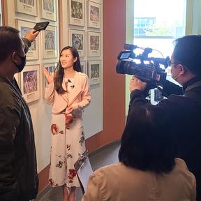伍殷嬅為列治文第14屆開放日拍攝視頻